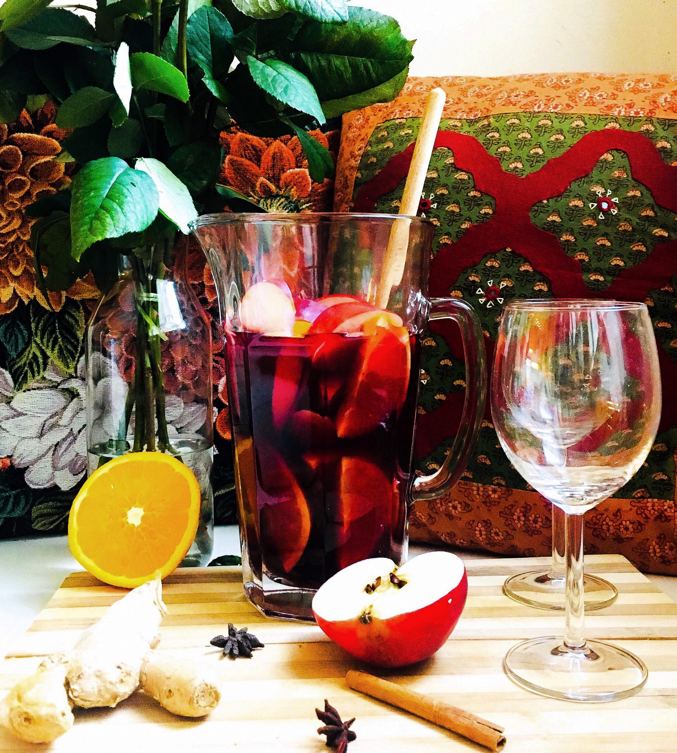 My Boozy Red Wine Sangria with an Indian Twist