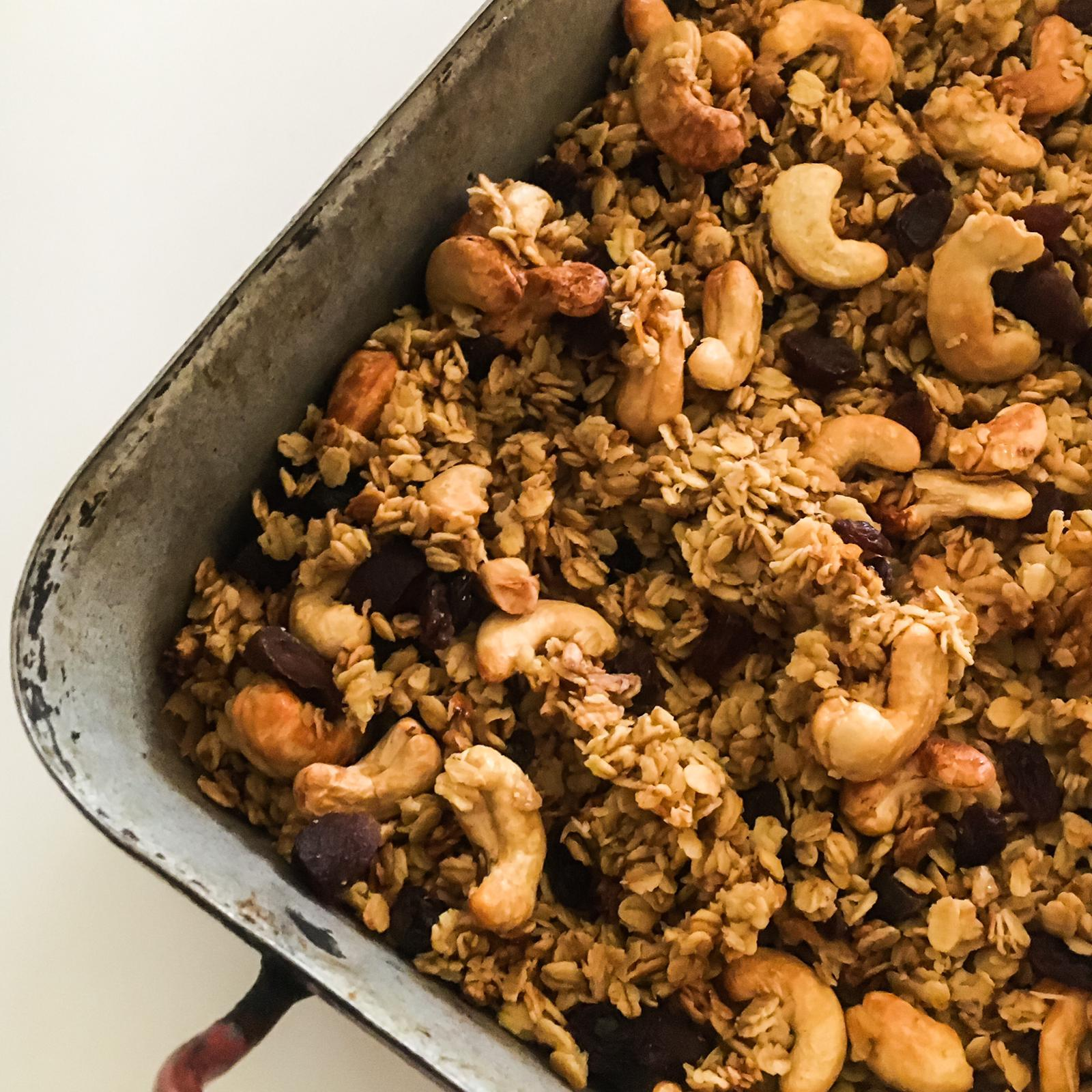 Easy Sweet and Savoury Granola- healthy and delicious