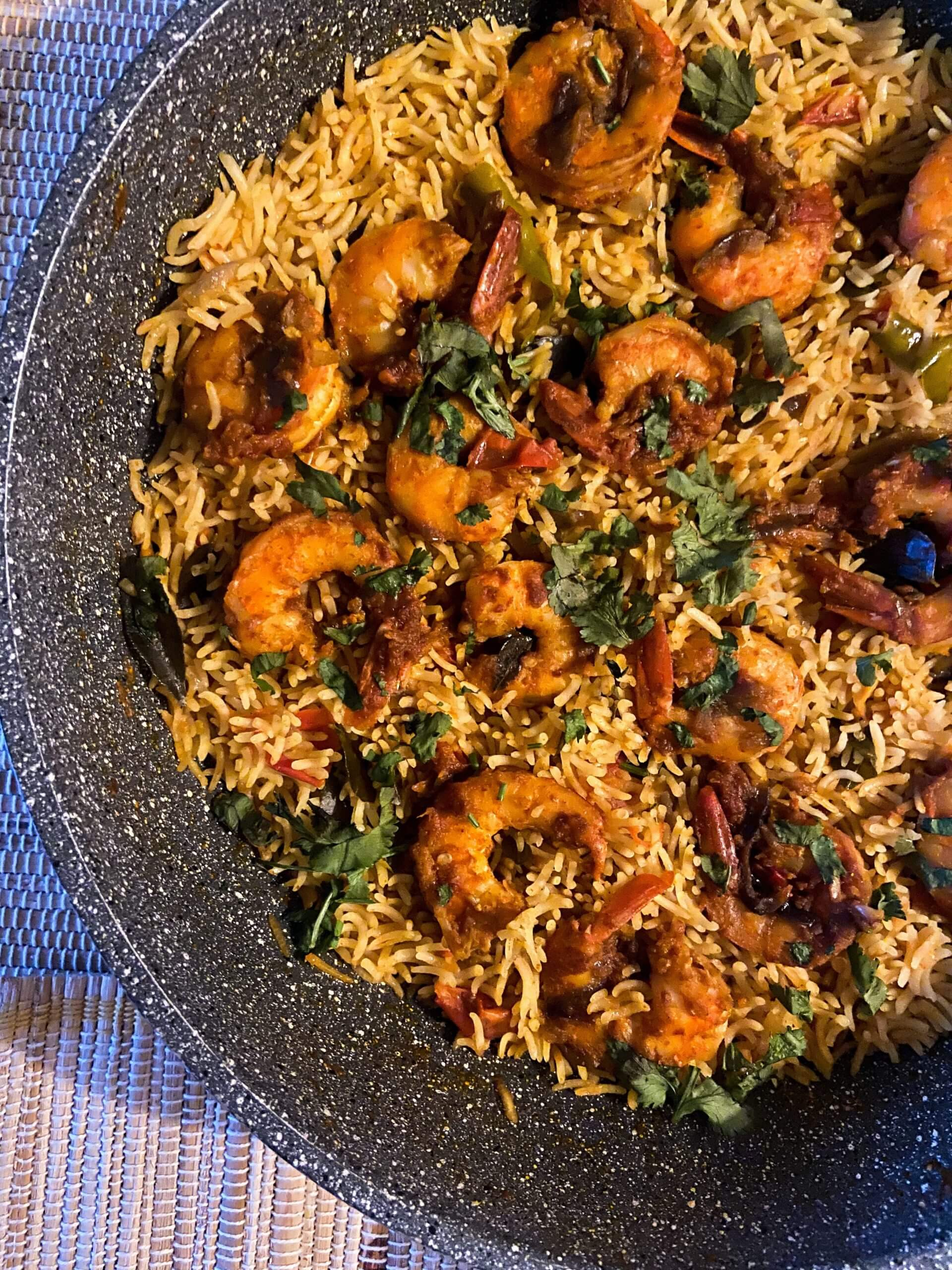 Chemmeen Choru – Kerala Style Spicy One Pot Shrimp Rice